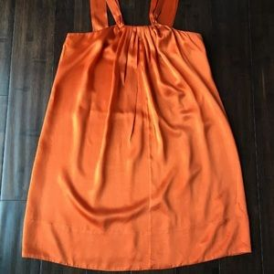 Banana Republic Size 8 Silk Orange Tunic Top Dress